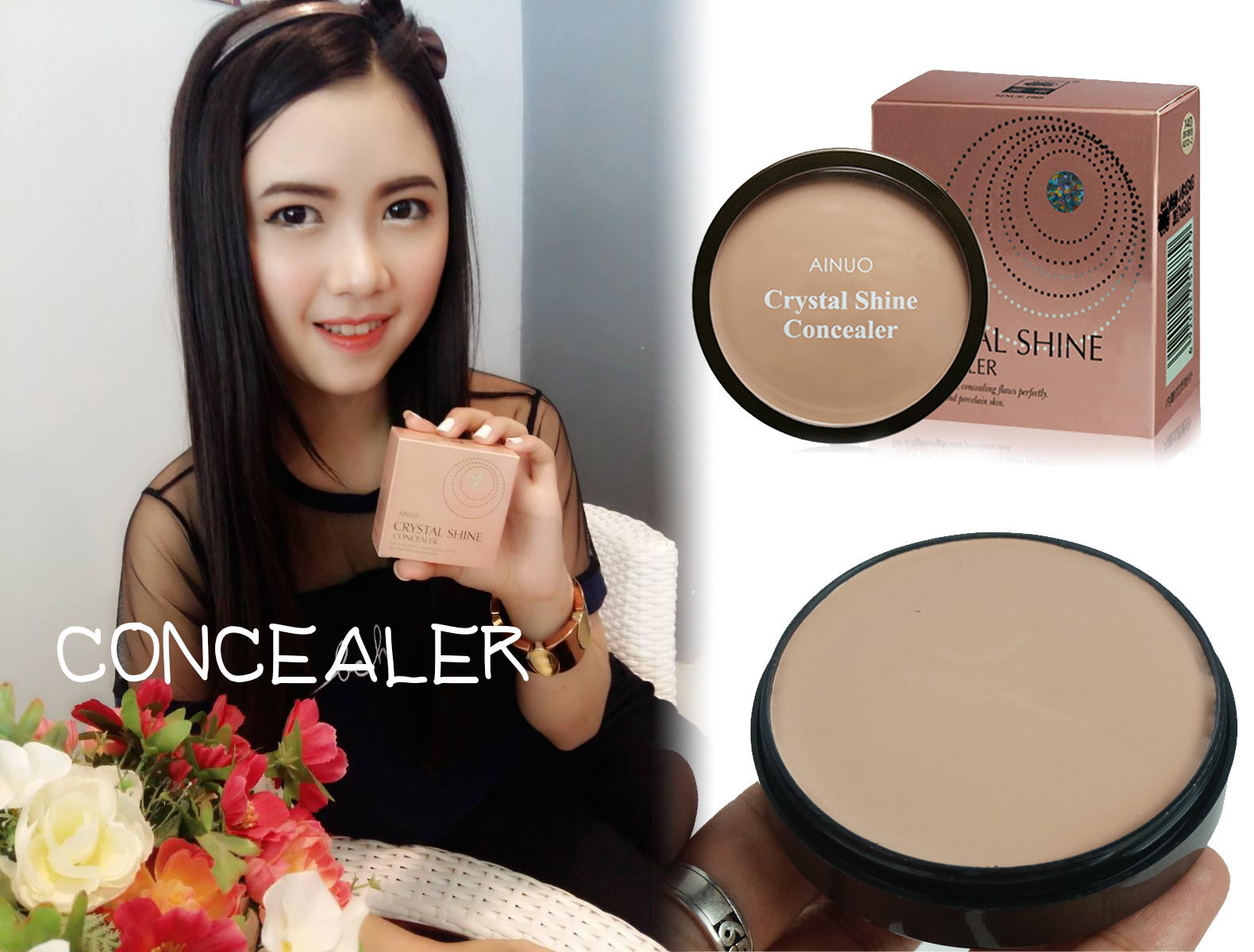 ainuo crytal shine concealer