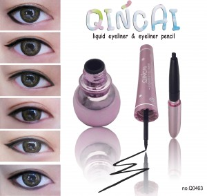 qincai 2in1 eyeliner อายไลเนอ์ แบบน้ำและแบบดินสอ